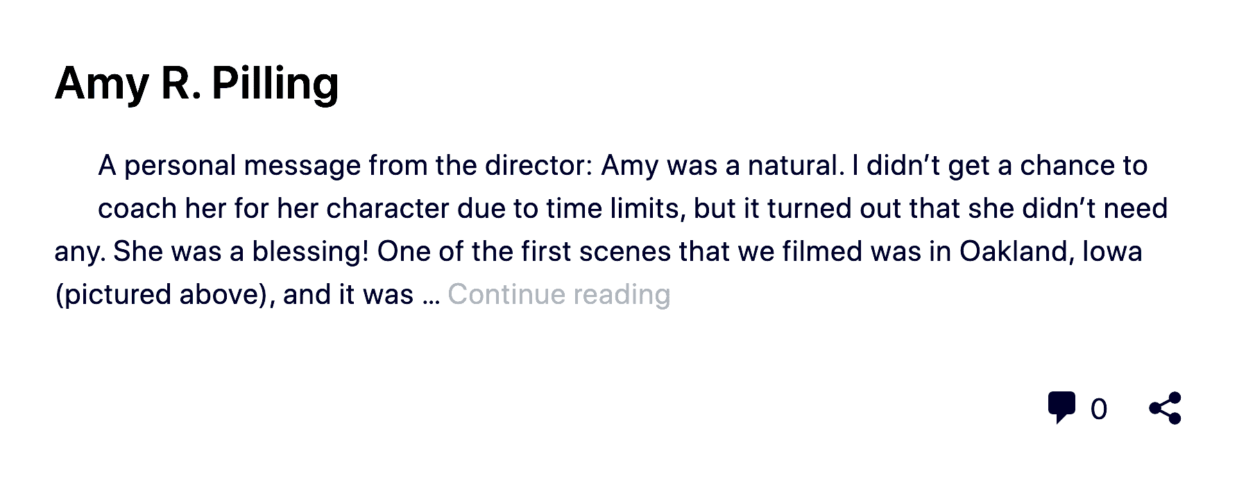 """Apparition"" Movie Actress, Executive and Co-Producer, Amy R. Pilling"